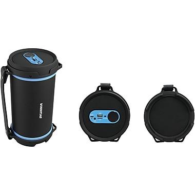 Sylvania Sp807-Blue Hi-Fi Bluetooth Rugged Tube Speaker (Blue)