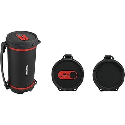 Sylvania Sp807-Red Hi-Fi Bluetooth Rugged Tube Speaker (Red)