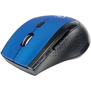 Manhattan 179294 Curve Wireless Optical Mouse (Blue/Black)