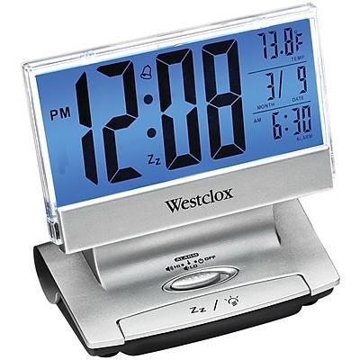 Westclox 72021X Electric Lcd Display Usb-Charging Alarm Clock