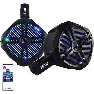 Pyle Pro Plmrwb65Leb Hydra Series 2-Way Wakeboard Speakers With Programmable Led Lights (6.5