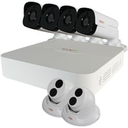 Revo Ru81T2Gb4G-2T Ultra 8-Channel 2Tb Ip Nvr With 4 Bullet & 2 Turret Cameras