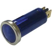 "Battery Doctor 20541 12-Volt .5"" Round Indicator Light With Chrome Bezel (Blue)"