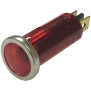 "Battery Doctor 20543 12-Volt .5"" Round Indicator Light With Chrome Bezel (Red)"