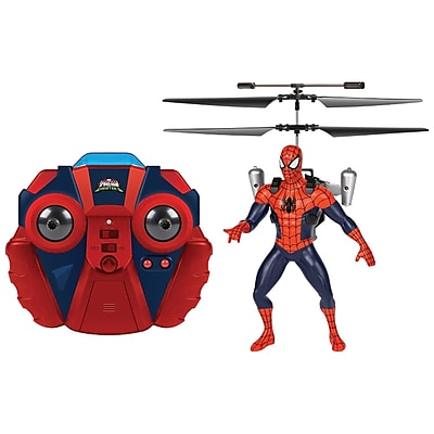 Marvel 34878 Remote-Control 2-Channel Marvel Ultimate Spider-Man Vs. The Sinister Six Ir Jetpack Helicopter 2442762