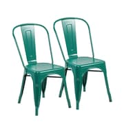 United Chair Industries LLC Side Chair (Set of 2); Matte Green