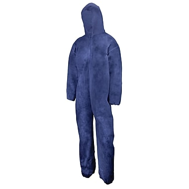 Polypropylene Coverall, w/Hood, Elastic Wrist+Ankle, White, 5XL, 50/Pack (C71501109)