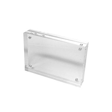 FuTECH – Porte-affiche de comptoir magnétique, 4 x 2,75 po, transparent, acrylique, 6/paquet (CTS0191)