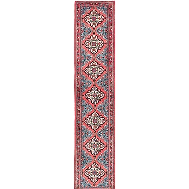 ECARPETGALLERY Roodbar Hand-Knotted Pink/Blue Area Rug