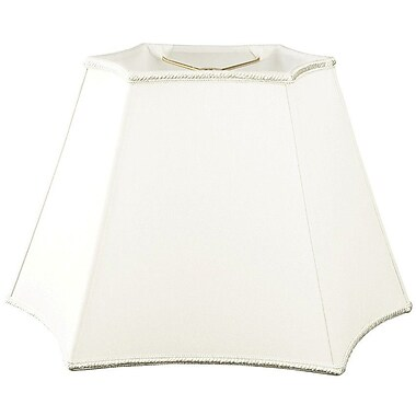 RoyalDesigns Timeless 14'' Silk/Shantung Novelty Lamp Shade; White