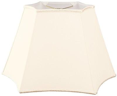 RoyalDesigns Timeless 18'' Silk/Shantung Novelty Lamp Shade; Eggshell