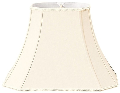 RoyalDesigns Timeless 18'' Silk/Shantung Bell Lamp Shade; Eggshell