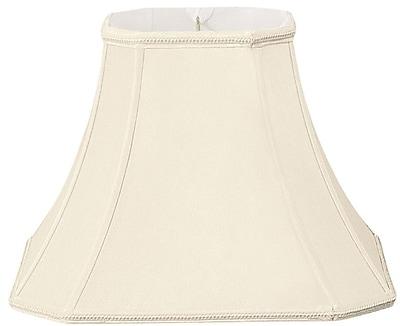 RoyalDesigns Timeless 14'' Silk/Shantung Bell Lamp Shade; Eggshell