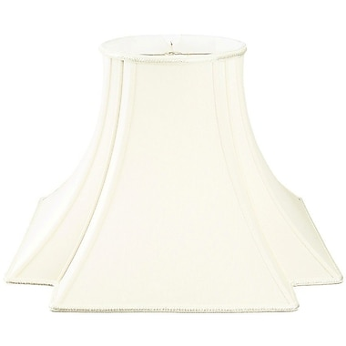 RoyalDesigns Timeless 12'' Silk/Shantung Novelty Lamp Shade; White/Off-White