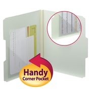 "Smead®  Self-Adhesive Poly Corner Pockets, 6""W x 6""H, Clear, 100 per Box (68160)"