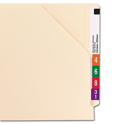 Smead Shelf-Master Reinforced End-Tab File Jackets, Flat, Letter, Manila, 100/Bx (75700)