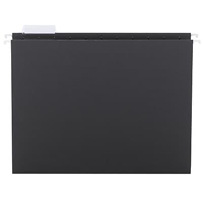 Smead® Hanging File Folder with Tab, 1/5-Cut Adjustable Tab, Letter Size, Black, 25/Box (64062)