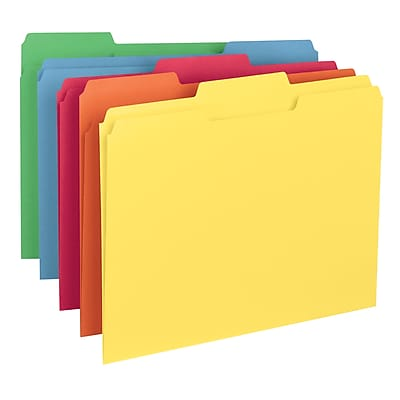 Smead File Folder, 1/3-Cut Tab, Letter Size, Assorted Colors, 100/Box, (11943)