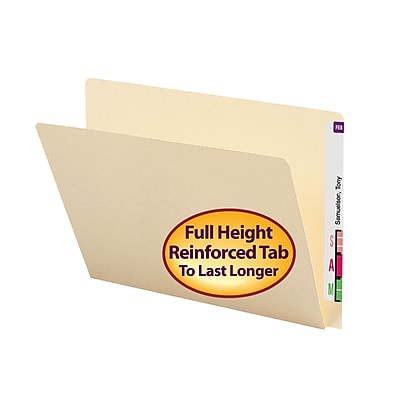 Smead End Tab File Folder, Straight-Cut Extended Tab, Letter Size, Manila, 100/Box (24250)