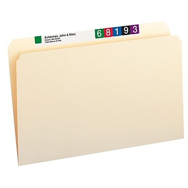 Smead® File Folder, Straight-Cut, Legal Size, Manila, 100/Box (15300)