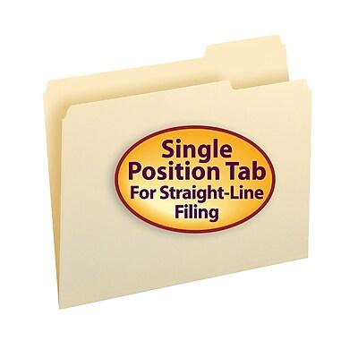 Smead File Folder, Letter, 1/3-Cut Tab Right Position, Letter Size, Manila, 100/Box (10333)