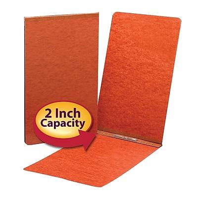 Smead Hinge Pressboard Binder, Red, 8 1/2