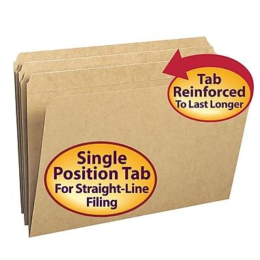 Smead® File Folder, Reinforced Straight-Cut Tab, Legal Size, Kraft, 100/Box (15710)