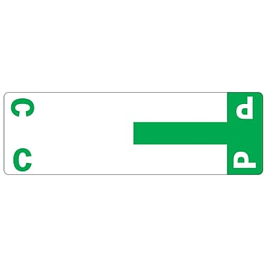 Smead ® Alpha-Z Color-Coded Name Labels First Letter Starter Set, C & P, Dark Green