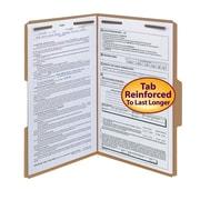 Smead® Fastener File Folder, 2 Fasteners, Reinforced 1/3-Cut Tab, Legal Size, Kraft, 50/Box (19837)
