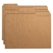 Smead® File Folder, 1/3-Cut Tab, Letter Size, Kraft, 50/Box (10830)