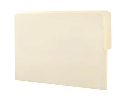 Smead End Tab File Folder, Shelf-Master Reinforced 1/2-Cut Tab Top Position, Letter Size, Manila, 100 per Box (24127)