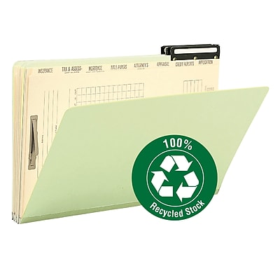 Smead Pressboard Mortgage File Folder, 2/5-Cut Right Position Flat Metal Tab, 14-3/4