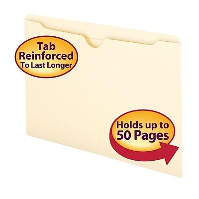 Smead Reinforced File Jackets, Flat, Legal, Manila, 100/Bx (76500)
