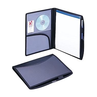 Smead® Poly Pro Series II Deluxe Padfolios, Black