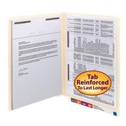 Smead Shelf-Master Reinforced End-Tab File Folders, 2-Fasteners, Letter, Manila, 50/Bx (34120)