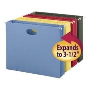 "Smead Colored Hanging File Pockets, Letter, 3-1/2"" Expansion, Assorted, 4/Pk (64290)"