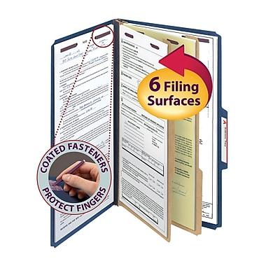 Smead® Pressboard Classification Folder with SAfeSHIELD® Fasteners, 1 Divider, 2