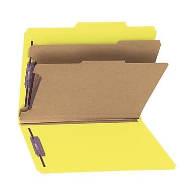 Smead® Pressboard Classification File Folder with SafeSHIELD® Fasteners, 2 Dividers, 2