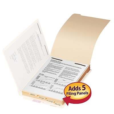 Smead Folder Dividers with Fastener, Bottom 1/5-Cut Tab, Legal Size, Manila, 50/Pack (35650)