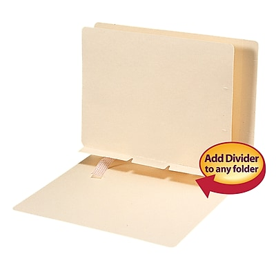 Smead® Self-Adhesive Folder Divider, Side Flap Style, Letter Size, Manila, 100/Box (68021)