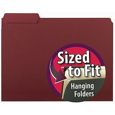 Smead® Interior File Folder, 1/3-Cut Tab, Letter Size, Maroon, 100/Box (10275)