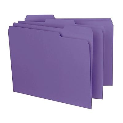 Smead Interior File Folder, 1/3-Cut Tab, Letter Size, Purple, 100/Box (10283)