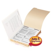 Smead® Folder Divider with Fastener, Bottom 1/5-Cut Tab, Letter Size, Manila, 50/Pack (35600)