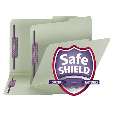Smead® Pressboard Fastener File Folder w/ SafeSHIELD® Fasteners, 2/5 Tab, 1