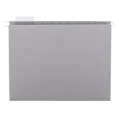 Smead Colored Hanging File Folders, Gray, Letter, 25/Box (64063)