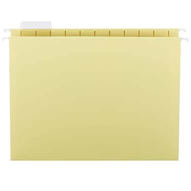 Smead® Hanging File Folder with Tab, 1/5-Cut Adjustable Tab, Letter Size, Yellow, 25/Box (64069)