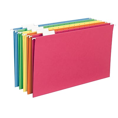 Smead® Colored Hanging File Folders, Assorted, Legal, 25/Box (64159)