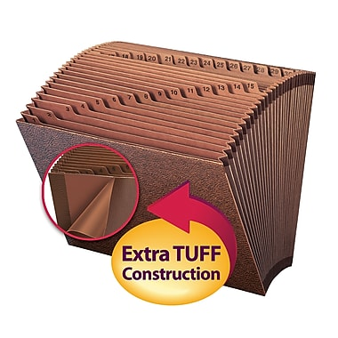 Smead® TUFF® Expanding File, Daily (1-31), 31 Pockets, Letter Size, Redrope-Printed Stock (70467)