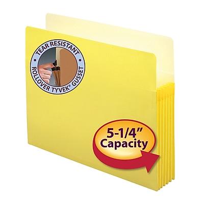Smead® File Pocket, Straight-Cut Tab, 5-1/4