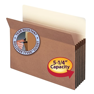 Smead Straight Cut File Pockets, 5-1/4